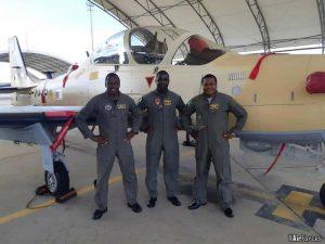 Nigerian Air Force A-29 Super Tucano (19-2035) with pilots, 30 November 2020