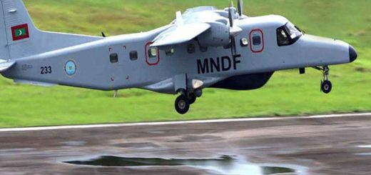 Maldivian National Defence Force (MNDF) Do-228 Maritime Surveillance aircraft
