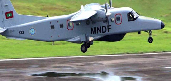 Maldivian National Defence Force (MNDF) Do-228 Maritime Surveillance aircraft